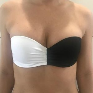 Victoria's Secret Color Block Ruched Strapless Top